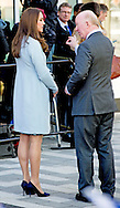 19-1-2015 - LONDON  The Duchess of Cambridge , Kate visits Kensington Aldridge Academy in Londen . COPYRIGHT ROBIN UTRECHT