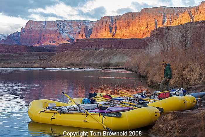 "First night's camp on a Private Grand Canyon river trip is at Lee's ferry. Before a private trip leaves the ferry they are first given a natural history orientation by the Park Service. The first mornig on the river is spent at Lee's ferry in the ""Private Boaters Camp""."