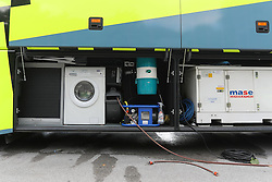 Washing machine in the Tinkof bus before press conference of cycling race Po Sloveniji - Tour de Slovenie 2015 on June 15, 2016 in Hotel Jama, Postojna, Slovenia. Photo by Morgan Kristan / Sportida