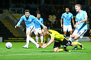 Burton Albion forward Liam Boyce (27) heads and scores a goal, 1-0 during the EFL Sky Bet League 1 match between Burton Albion and Southend United at the Pirelli Stadium, Burton upon Trent, England on 2 October 2018.