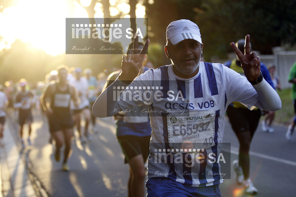 CAPE TOWN, South Africa - Saturday 30 March 2013, Runner during the half marathon of the Old Mutual Two Oceans Marathon. .Photo by Nick Muzik/ ImageSA