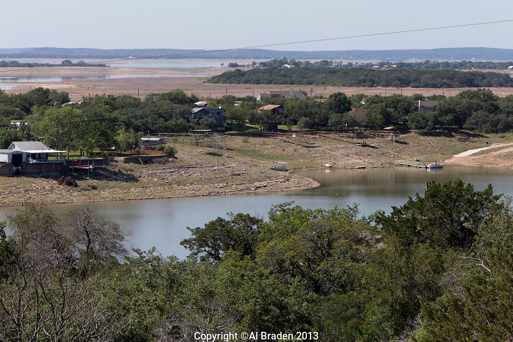 Boat Docks, Lake Buchanan, TX. Lake  was at approximately 35% of capacity during the drought.