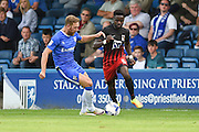 Gillingham midfielder Scott Wagstaff (7) and Coventry City midfielder Gael Bigirimana (5) during the EFL Sky Bet League 1 match between Gillingham and Coventry City at the MEMS Priestfield Stadium, Gillingham, England on 24 September 2016. Photo by Martin Cole.