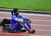 Great Britains, Christine Ohuruogu prior the the womens 400m at the Sainsbury's Anniversary Games at the Queen Elizabeth II Olympic Park, London, United Kingdom on 24 July 2015. Photo by Mark Davies.