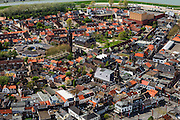 Nederland, Zeeland, Terneuzen, 09-05-2013; Zeeuws-Vlaanderen, centrum van Terneuzen gezien naar Kanaal Terneuzen - Gent.<br /> View on the center Terneuzen (Zeeland) next to the  Terneuzen - Ghent Canal.<br /> luchtfoto (toeslag op standard tarieven);<br /> aerial photo (additional fee required);<br /> copyright foto/photo Siebe Swart.