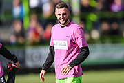 Forest Green Rovers Carl Winchester(7) warming up during the EFL Sky Bet League 2 match between Forest Green Rovers and Cheltenham Town at the New Lawn, Forest Green, United Kingdom on 20 October 2018.