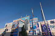 Election victory posters for regional MP Mohammed Yasim in the village of Qum on the West Bank of Luxor, Nile Valley, Egypt.
