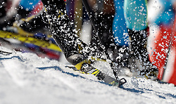 19.02.2017, Biathlonarena, Hochfilzen, AUT, IBU Weltmeisterschaften Biathlon, Hochfilzen 2017, Massenstart Herren, im Bild Feature Langlauf, Frühling, Schnee, close up // Feature Cross Country Snow close up during Mens Masstart of the IBU Biathlon World Championships at the Biathlonarena in Hochfilzen, Austria on 2017/02/19. EXPA Pictures © 2017, PhotoCredit: EXPA/ JFK