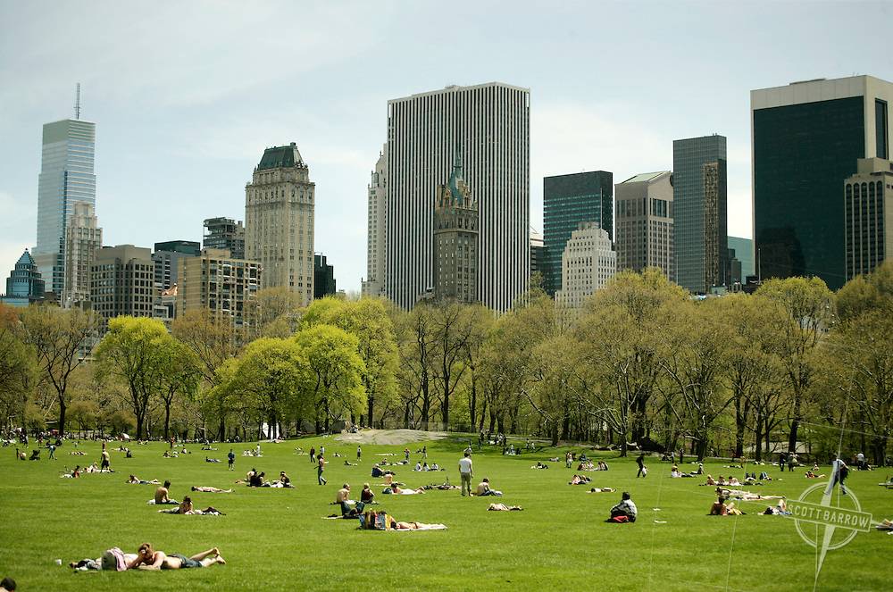Sheep's Meadow in Central Park, NY, NY.