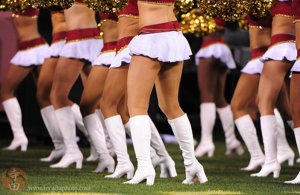September 2, 2010; San Francisco, CA, USA; San Francisco 49ers Gold Rush cheerleaders perform during the second quarter against the San Diego Chargers at Candlestick Park. The 49ers defeated the Chargers 17-14. Mandatory Credit: Kyle Terada-Terada Photo