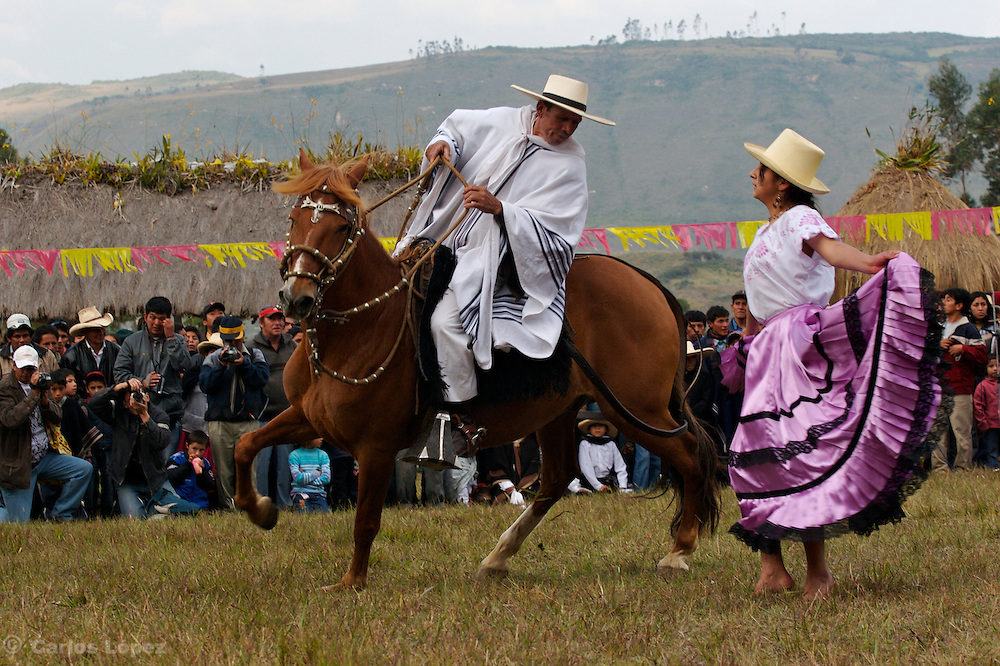 "ONE ""CHALAN"" ON HIS HORSE DANCING MARINERA., .   The Hatun Luya is a festival celebrated every september 13th, where everyone from the surrounding areas comes together. During this festivity, you can witness demonstrations of popular customs."