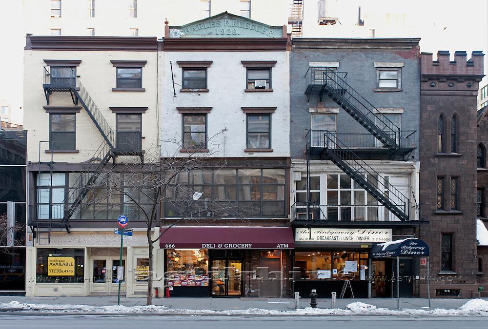 Exterior of buldings in Manhattan, New York City, USA