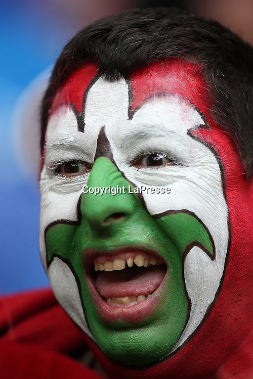 Jonathan Moscrop - LaPresse<br /> 28 06 2012 Varsavia ( Polonia )<br /> Sport Calcio<br /> Europei 2012 Polonia e Ukraina - Semi Finale Germania vs. Italia - Stadio Nazionale di Varsavia<br /> Nella foto: Tifoso dell'Italia allo stadio<br /> <br /> Jonathan Moscrop - LaPresse<br /> 28 06 2012 Warsaw ( Polonia )<br /> Sport Soccer<br /> Euro 2012 Poland and Ukraine - Semi Final Germany versus Italy - National Stadium Warsaw<br /> In the photo: an Italy fan at the stadium