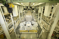 The launch of Royal Caribbean International's Oasis of the Seas, the worlds largest cruise ship..The engine room.