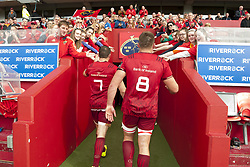 September 30, 2017 - Limerick, Ireland - Tommy O'Donnell (7) and CJ Stander (8) of Munster thanks their fans during the Guinness PRO14 Conference A Round 5 match between Munster Rugby and Cardiff Blues at Thomond Park in Limerick, Ireland on September 30, 2017  (Credit Image: © Andrew Surma/NurPhoto via ZUMA Press)