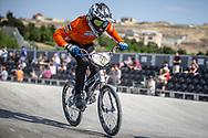 #269 during practice at the 2018 UCI BMX World Championships in Baku, Azerbaijan.