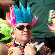 A fan during the South Africa V Australia Quarter Final match at the IRB Rugby World Cup tournament. Wellington Regional Stadium, Wellington, New Zealand, 9th October 2011. Photo Tim Clayton...