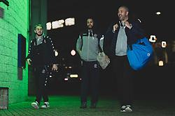 Mike Edkins and Jordan Nicholls of Bristol Flyers and Chris Taylor of Bristol Flyers arrives at Plymouth Pavilions prior to kick off - Photo mandatory by-line: Ryan Hiscott/JMP - 28/12/2019 - BASKETBALL - Plymouth Pavilions - Plymouth, England - Plymouth Raiders v Bristol Flyers - British Basketball League Championship