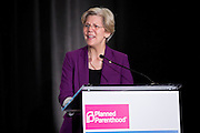 Senator Elizabeth Warren (D-Massachusetts) addresses the Lobby Day briefing and breakfast during the 2013 Planned Parenthood Organizing and Policy Summit held at the Hyatt Regency Washington.