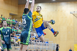 Mlakar Ziga of RK Celje Pivovarna Lasko during handball match between RK Krka and RK Celje Pivovarna Lasko in the Final of Slovenian Men Handball Cup 2018, on April 22, 2018 in Sportna dvorana Ljutomer , Ljutomer, Slovenia. Photo by Mario Horvat / Sportida