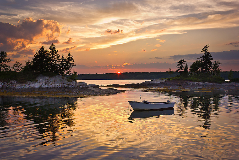 This radiant sunset occurred at one of my favorite places in the world, Lookout Point in Harpswell, Maine.  This is why I love Maine.