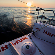 Leg Zero, Prologue, Tuesday Oct. 10, 2017, day 4, dolphins.<br /> Prologo, dia 4, Martes 10 octubre, 2017, delfines.<br /> Photo by Jen Edney/MAPFRE/Volvo Ocean Race.