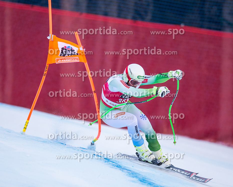 29.12.2015, Deborah Compagnoni Rennstrecke, Santa Caterina, ITA, FIS Ski Weltcup, Santa Caterina, Abfahrt, Herren, im Bild Bostjan Kline (SLO) // Bostjan Kline of Slovenia in action during the men's Downhill of the Santa Caterina FIS Ski Alpine World Cup at the Deborah Compagnoni Course in Santa Caterina, Italy on 2015/12/29. EXPA Pictures © 2015, PhotoCredit: EXPA/ Johann Groder