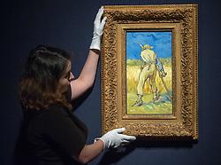 June 16, 2017 - London, London, United Kingdom - Image ©Licensed to i-Images Picture Agency. 16/06/2017. London, United Kingdom. .Vincent Van Gogh, 'Le moissonier (d'apres Millet)', 1889, estimated at £25- £40  Million.Christie's Impressionist and Modern Art evening sale June 27th. Christie's. Picture by Mark Thomas / i-Images (Credit Image: © Mark Thomas/i-Images via ZUMA Press)