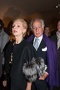 CAROLINA HERRERA; JOHN STEFANIDES,  Valentino: Master of Couture - private view. Somerset House, London. 28 November 2012