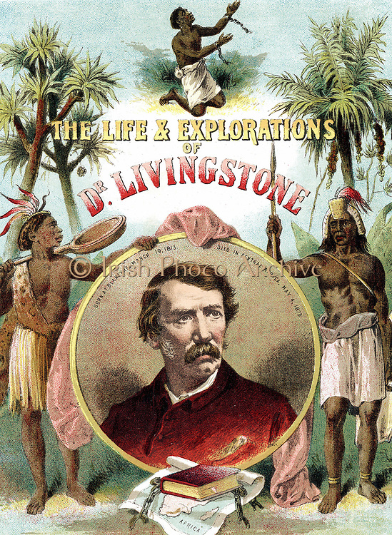 David Livingstone (1813-73) Scottish missionary and explorer of Africa. Chromolithograph from 'The Life and Explorations of Dr Livingstone' c1875