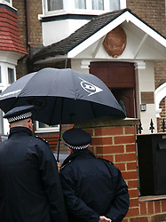 Police outside the North Korean embassy near Ealing, London, amid rumours some of the embassy staff were leaving in view of the present tensions,Tuesday April 9, 2013. Photo by Max Nash / i-Images...