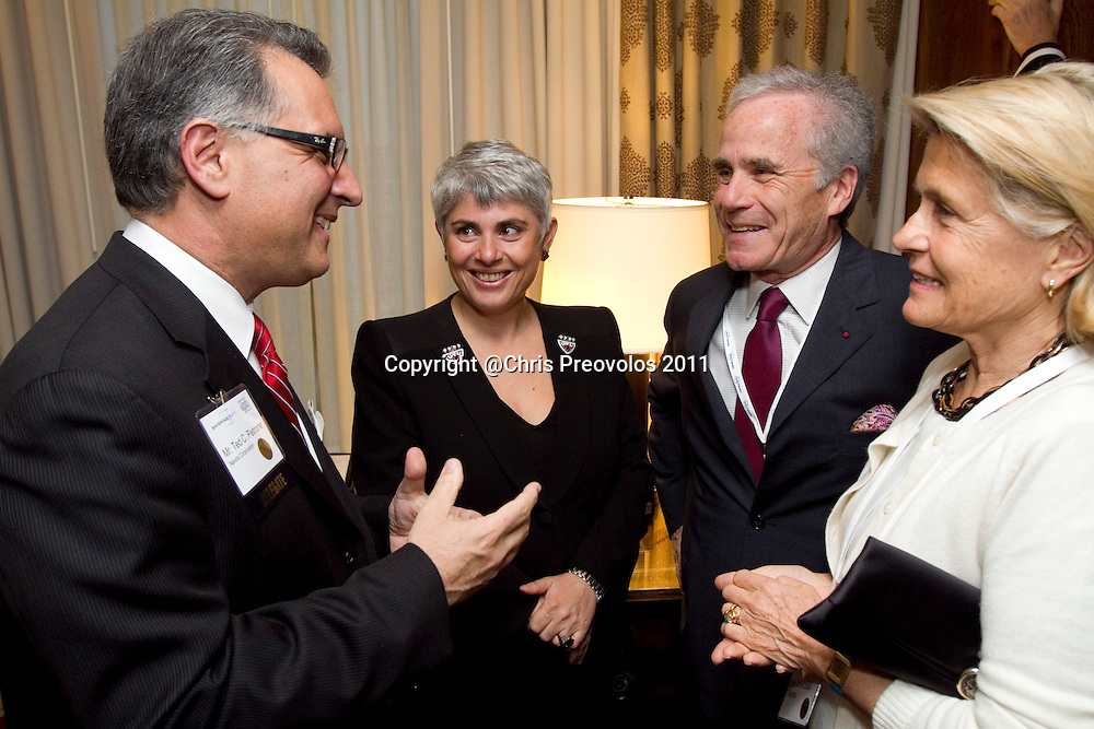 Angeliki Frangou, chairman and CEO of Navios Maritime Holdings, is honored at the Connecticut Maritime Association's Shipping 2011 conference in Stamford, Conn. on Wednesday, March 23, 2011.