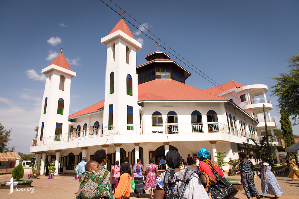 Exterior photograph of the Evangelical Lutheran Church in Tanzania – South-East of Lake Victoria Diocese's (ELCT-SELVD) Ebenezer Cathedral on Saturday, March 14, 2015, in Shinyanga, Tanzania.  LCMS Communications/Erik M. Lunsford