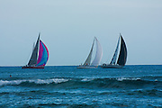 Sailboat race off Waikiki, Hawaii