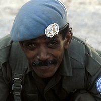 A member of the Fijian contingent of United Nations Interim Force in Lebanon - UNIFIL in 1981.