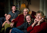 Christmas Eve with my wife's family brought a request for a proverbial family portrait. This is one from a series of shots from the gathering.