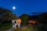 Staff members, Nxai Pan Camp, Nxai Pan National Park, Botswana.