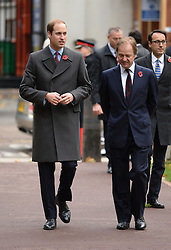 Prince William arrives to meet the President of the Republic of Korea Her Excellency Park Geun-hye for a Korean War Memorial Ceremony, at Victoria Embankment Gardens, London, United Kingdom, Tuesday, 5th November 2013. Picture by Andrew Parsons / i-Images