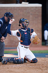 Virginia Cavaliers catcher Beau Seabury (16) in action against Duke.  The Virginia Cavaliers Baseball team fell to the Duke Blue Devils 13-9 in the second of a three game series at Davenport Field in Charlottesville, VA on April 7, 2007.