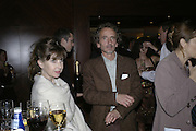 Susie Lindeman and Carlo Mantegazza, The 25th hour post party at the Plaza on the River, 18 Albert Embankment. Culmination of the 24 Hour Plays Celebrity Gala at the Old Vic.London. 8 October 2006.  -DO NOT ARCHIVE-© Copyright Photograph by Dafydd Jones 66 Stockwell Park Rd. London SW9 0DA Tel 020 7733 0108 www.dafjones.com