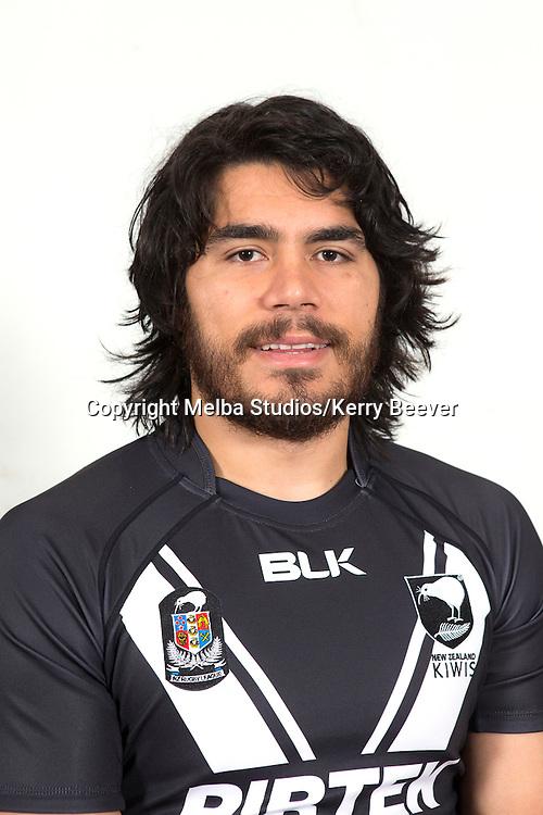 Tohu Harris, New Zealand Kiwis rugby league team headshots ahead of the 2014 Kiwis v Kangaroos test. Sydney, Australia. 28 April 2014. Photo: Melba Studios/Kerry Beever