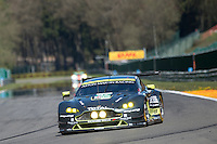 Richie Stanaway (NZL) / Fernando Rees (BRA) / Jonathan Adam (GBR) #97 Aston Martin Racing Aston Martin Vantage, Free Practice 1  as part of the WEC 6 Hours of Spa-Francorchamps 2016 at Spa-Francorchamps, Stavelot, , Belgium . May 05 2016. World Copyright Peter Taylor/PSP.  Copy of publication required for printed pictures.  Every used picture is fee-liable. http://archive.petertaylor-photographic.co.uk