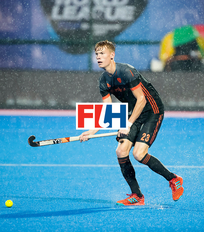 BHUBANESWAR -  Joep de Mol (Ned)  tijdens de Hockey World League Finals , de wedstrijd om de 7e plaats, Engeland-Nederland (0-1).   COPYRIGHT KOEN SUYK