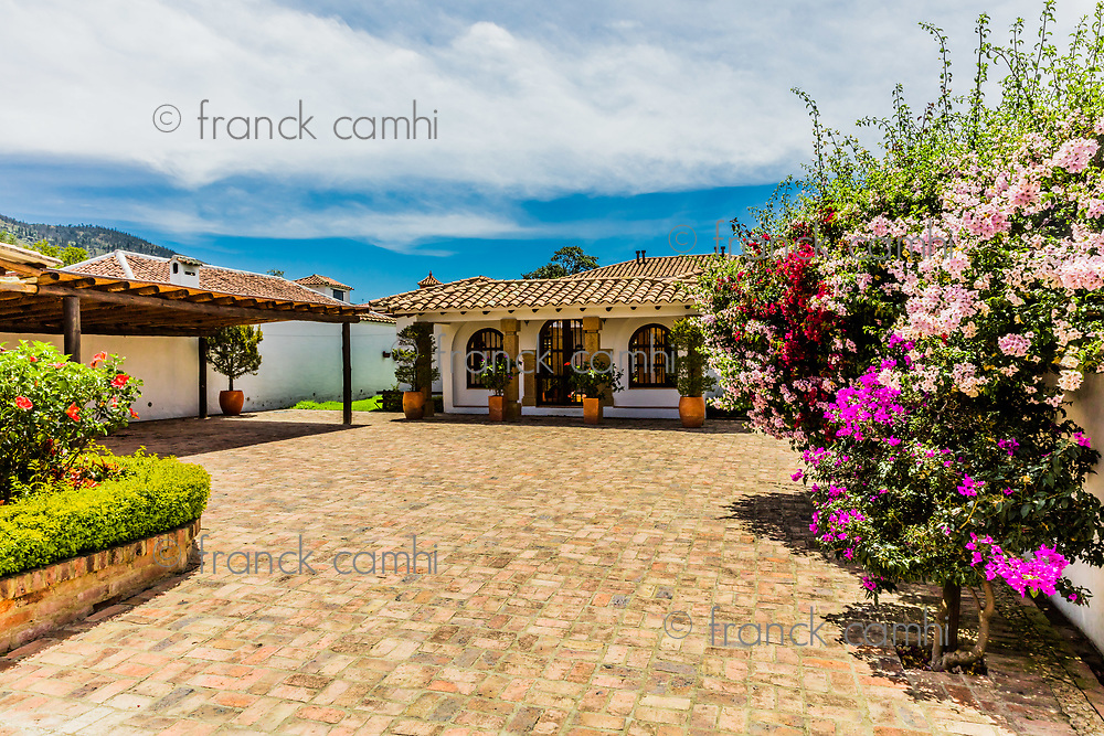traditional house of Villa de Leyva Boyaca in Colombia South America