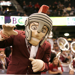 21 December 2008: The Troy mascot on the sideline during a 30-27 overtime victory by the Southern Mississippi Golden Eagles over the Troy Trojans in the  R+L Carriers New Orleans Bowl at the New Orleans Superdome in New Orleans, LA.