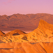 Sunrise at Zabriskie Point in Death Valley National Monument