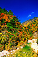 On road to Kamikochi, the Japan Alps, Nagano Prefecture, Japan