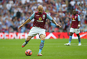 Nathan Baker of Aston Villa during the The FA Cup match between Arsenal and Aston Villa at Wembley Stadium, London, England on 30 May 2015. Photo by Phil Duncan.