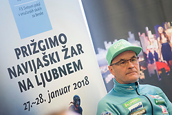 Sten Baloh during press conference before FIS Ski World Cup Ladies competition in Ljubno 2018 on January 24, 2018 in BTC, Ljubljana, Slovenia. Photo by Urban Urbanc / Sportida