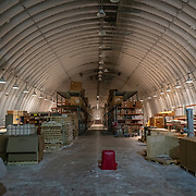 Logistics Arch where long term storage of food takes place in minus 57 degrees